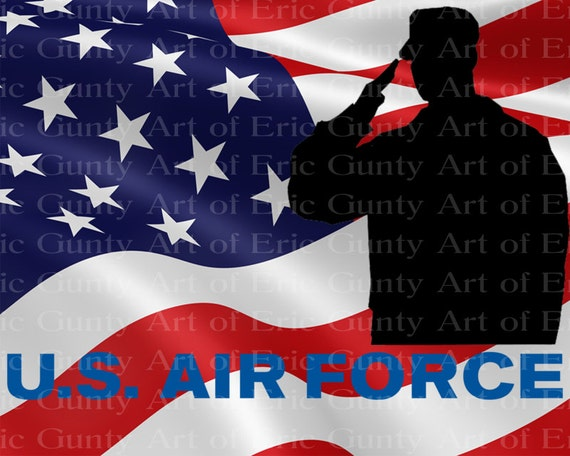 U.S. Air Force Military Flag Birthday - Edible Cake and Cupcake Topper For Birthday's and Parties! - D21930