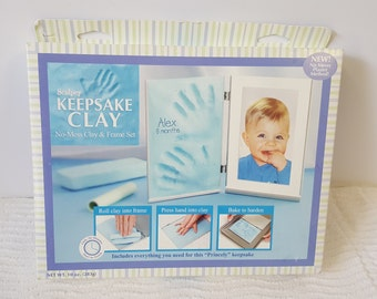Baby Keepsake Clay kit-No Mess Clay & Frame set-DIY kit-Personalized baby kit-NEW- Un-Opened box