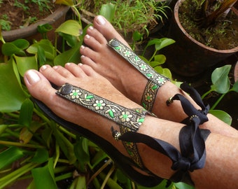 EXTRA Boho Switchable Fancy Colorful Embroidery Adaptable With Pakashoes Sole Free Shipping