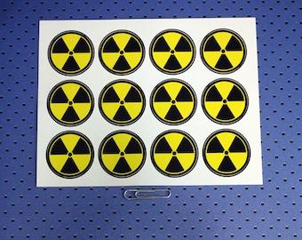Nuclear Warning Labels - Sticker Sheet