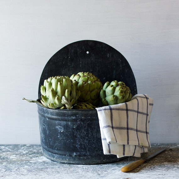 Vintage French Demilune Wall Planter