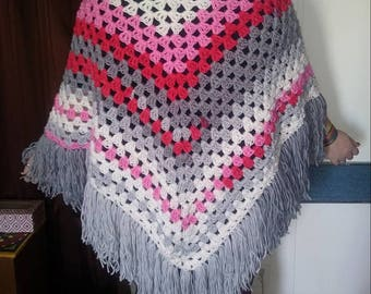 Pink Gradient Shawl