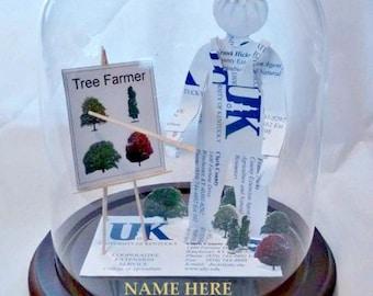 Landscaper Business Card Sculpture -Design 9988 Tree surgeon -Tree Farmer