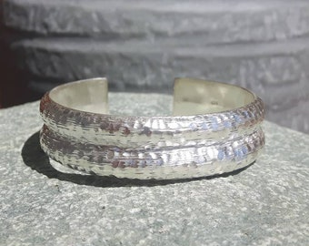 Bumpy hammered silver bracelet