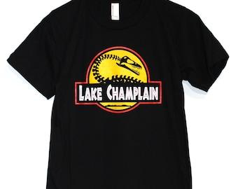 Jurassic Park Lake Champlain Fusion Black T Shirt American Apparel