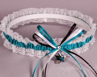 San Jose Sharks Lace Wedding Garter - Ready to Ship