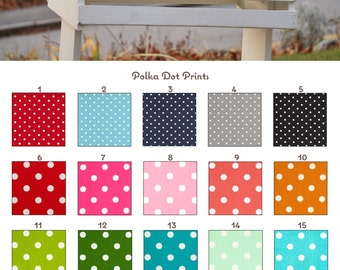 Custom Polka Dot Comfort Memory Foam Half Pad and/or Cover Many Colors - MADE TO ORDER