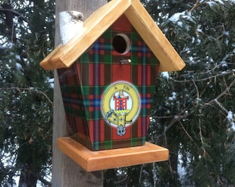 Ogilvie Tartan and Crest Birdhouse