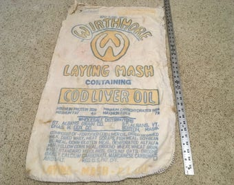 Vintage Wirthmore Laying Mash Feed Sack
