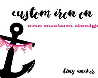 Custom Iron On Printable Design | 1 DIY Print At Home Design