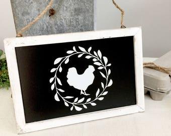 Chicken Sign - Pretty Chicken - Fresh Eggs Sign - Chicken Coop Sign - Welcome sign - Farm Sign - Chicken Lover - FarmhouseMaven