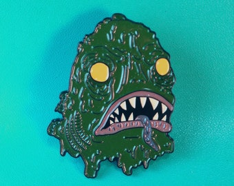 Deep One soft enamel pin