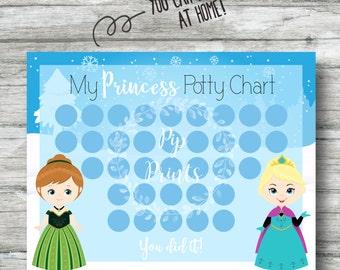 princess potty chart
