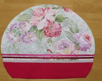 Pink Flower PLACEMAT, Pink PLACEMAT, Floral PLACEMAT, For the Person who loves Pink Color, Half Moon Shape, Home Décor, Made in Japan