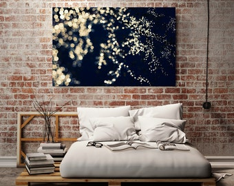 Modern Wall Decor, Abstract Canvas Wall Art, Large Canvas Print 40x60, Blue Home Decor, Bedroom Wall Art, Dreamy Photography