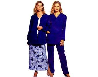 Misses Cardigan Pants Skirt McCalls 2461 Sewing Pattern Size 8 - 10 - 12 - 14 Bust 31 1/2 - 32 1/2 - 34 - 36 UNCUT