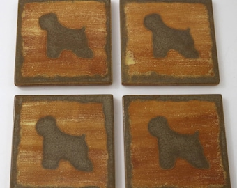 Wheaten Terrier, Ceramic Coasters, Pet Loss Gifts, Drink Coasters, House Warming Gift. Illustration, Coasters,