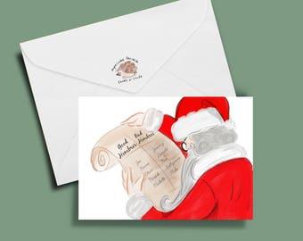 Funny Christmas Card, funny holiday card, trump card: Bad Hombre List