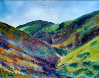 Cholame Pass - signed original oil on canvas
