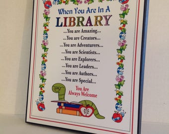 Librarian Sign, Library Sign, School Sign, Back To School, Teacher Appreciation, Country Sign, Inspirational Sign, Kids Sign