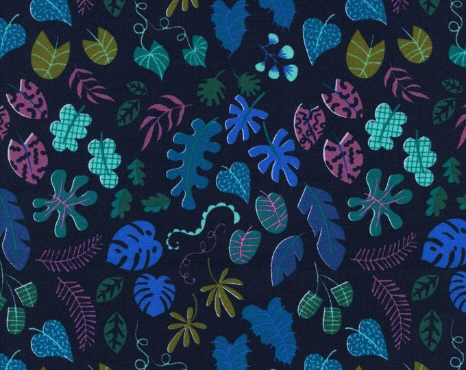 Lagoon by Cotton + Steel - Leafy Wonder Navy - Cotton Woven Fabric