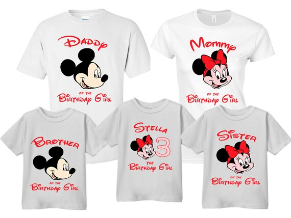 Disney Disney Family Shirts Disney Birthday Shirt Disney