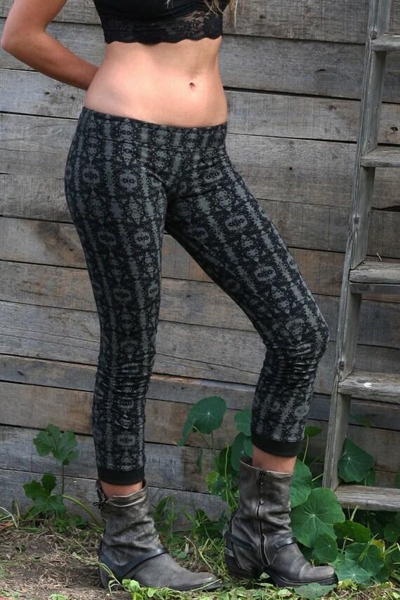 Unisex Leggings Stone- Unisex leggings, full length leggings, hand dyed, yoga tights, yoga leggings, casual pants, festival legging.