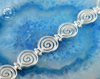 spiral silver bracelet, greek bracelet, spiral bracelet, sterling silver bracelet, spiral, greek jewelry, goddess bracelet, goddess jewelry