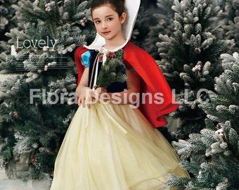Snow white dress Snow white costume girls party birthday princess costume