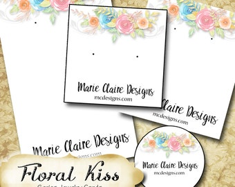 FLORAL BLISS•Custom Tags•Labels•Earring Display•Clothing Tags•Custom •Boutique Card•Tags•Custom Tags•Custom Labels