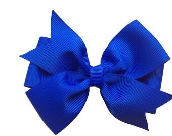 Royal blue hair bow - hair bow, hair bows, bow, hair clips, hair bows for girls, girls bows, girls hair bows, toddler bows, baby bows, bows