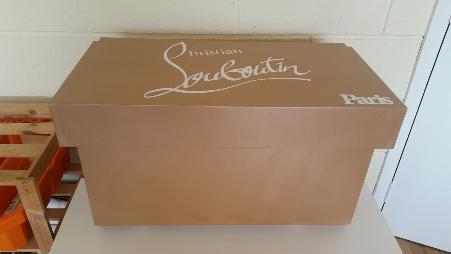 xl shoe storage box christian louboutin giant shoe box with. Black Bedroom Furniture Sets. Home Design Ideas