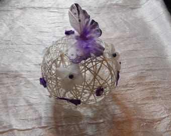 Rattan butterfly and flowers for wedding centerpiece