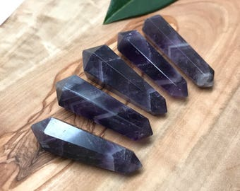 Premium Quality Amethyst Double Terminated Point | Double Point | Healing Wand #TP5