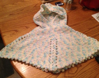 Hooded Poncho crocheted