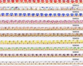 SS6 Rhinestone chain Basic rhinestone crystal chain set with various colours crystal DIY Wedding Chains 100993