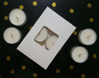Scented Tea Light Candles_ Soy Wax- Natural- Pure-Hand Poured- Pack of 6