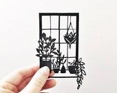 Papercut | Illustration | paperart | Botanical illustration | gift for plant lovers | handmade | wall art | Home decor | unique gift | art