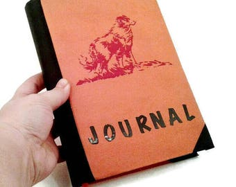 Dog writing Journal, Lined pages, gift for boys, diary, gift for writers, Journaling,  upcycled book journal, gift for dog lovers, pet