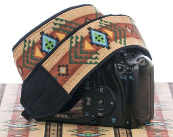 Camera Strap dSLR or SLR, Tribal, Southwestern, dslr camera strap,Native American Inspired, Canon camera strap, Nikon camera strap,  002