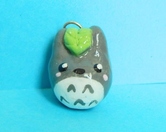 Totoro Charm - Dust Plug - Phone Charm - Kawaii Jewelry - Totoro Necklace - Totoro Phone Charm - Clay Accessory