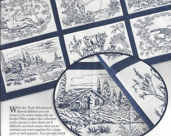 Anita Goodesign, Special Edition, Machine Embroidery Designs, Toile Tile Scenes, Tile Scenes