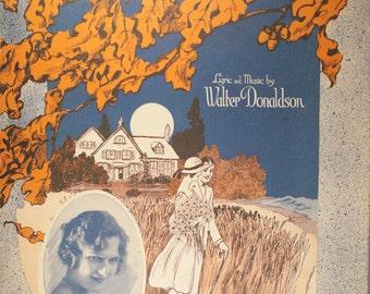 "1922 Sheet Music, ""Sweet Indinana Home"""