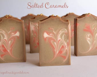 SOAP (Saponified cold) Salted Caramels - SAPOLINA Collection