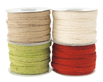 Jute Rope Braid Ribbon, 3/8-inch, 25-yard