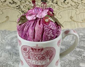 Love Mug Pincushion