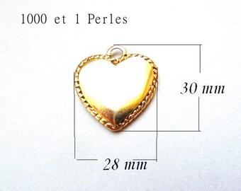 Golden Heart - heart - PENDANT charm