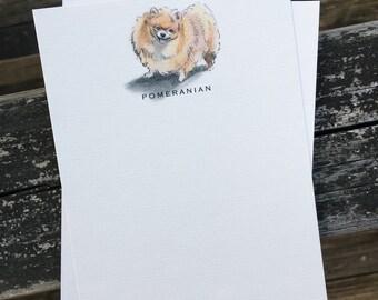 Pomeranian Dog Note Card Set