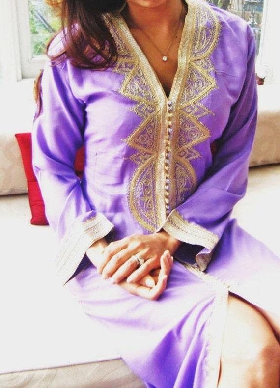 Lilac Lella Caftan Kaftan- Kaftan, Caftan, loungewear,resortwear,spa robe, great for Valentines day, Birthdays, Honeymoon or Maternity Gifts