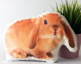Bunny pillow, animal pillow, decorative pillow, stuffed bunny, stuffed animal, bunny toys, plush bunny, bunny decor, kids room decor
